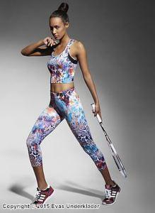 3/4-leggings med färgglatt leopardmönster