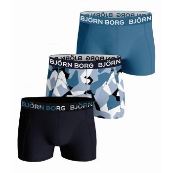 Björn Borg Kalsonger 3P Cotton Stretch Shorts For Boys 2123 Marin/Blå bomull 158-164