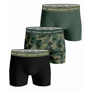 Björn Borg Kalsonger 3P Essential Shorts 2113 Militärgrön bomull Small Herr