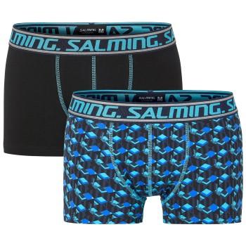 Salming Kalsonger 2P Skill Boxer Svart/Blå bomull Small Herr