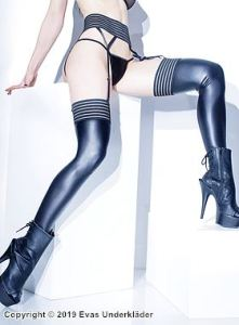Stockings i sexig lamé