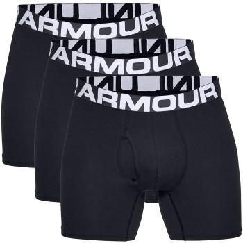 Under Armour Kalsonger 3P Charged Cotton 6in Boxer Svart 3XL Herr