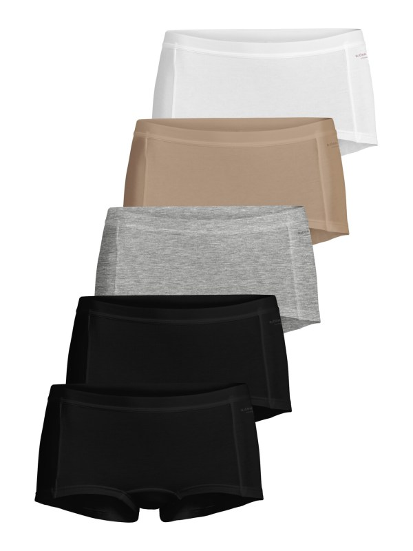 SOLID COTTON MINISHORTS 5-PACK Black Beauty,38