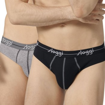 Sloggi Kalsonger 2P For Men Start Mini Svart/Grå bomull Medium Herr
