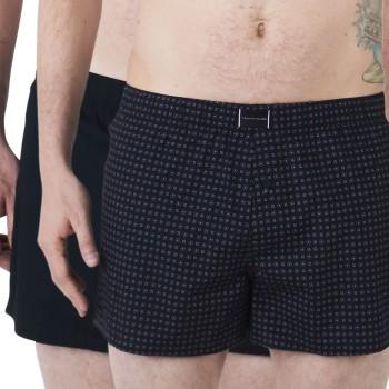 Tommy Hilfiger Kalsonger 2P Organic Cotton Woven Boxer Marin ekologisk bomull Large Herr