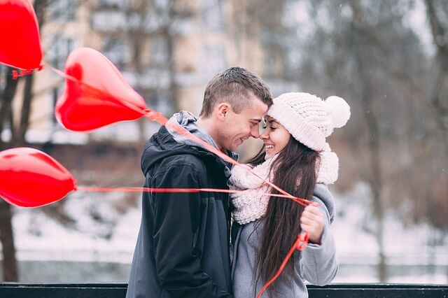 couple amants heureux
