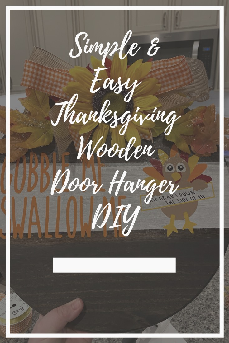 A Thanksgiving Door Hanger for the Cardi B Fan