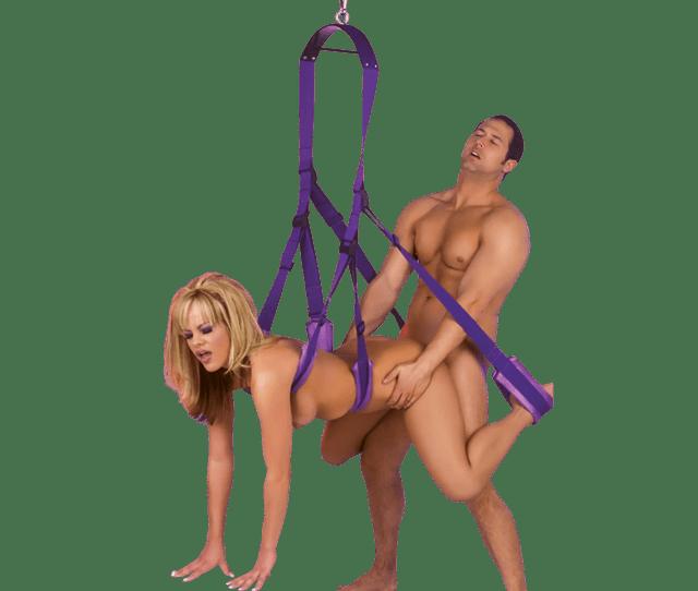 Purple Fetish Fantasy Sex Swing