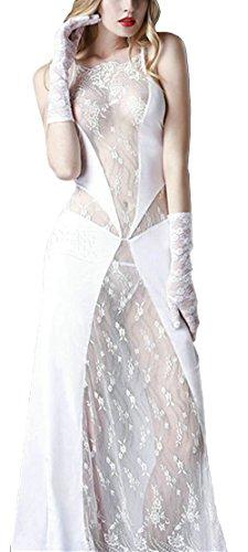Bestfort Dress Spitzen Clubwear Nachtclub Kleid lang