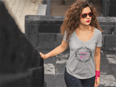 T-SHIRT FEMME RUGBY