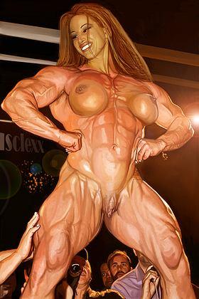 Muscle Girl Nude