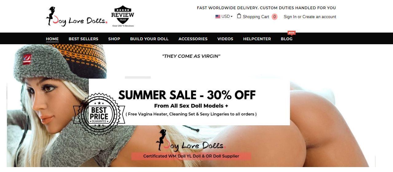 Homepage sito joylovedolls