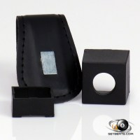 Pool Cue Chalk Accessories | Magnetic Leather Chalk Holder