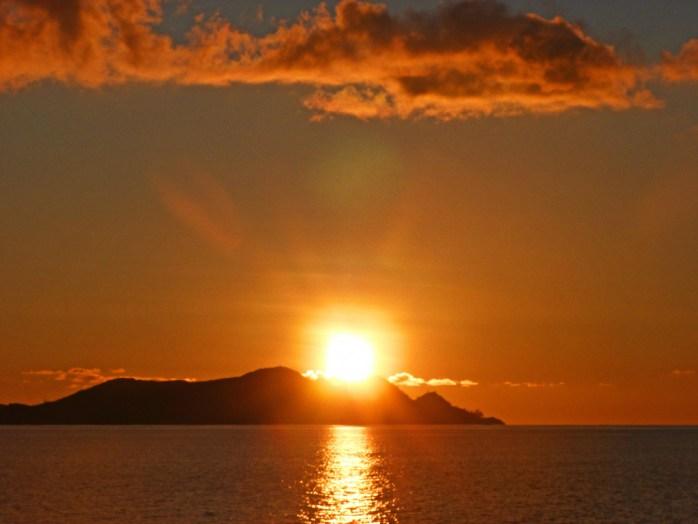 Boat Trip sunset Seychelles