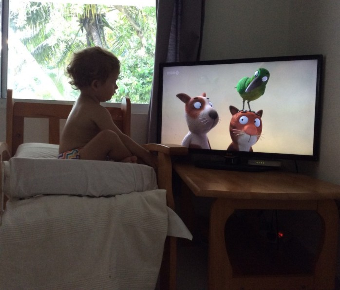 How to watch TV like a toddler