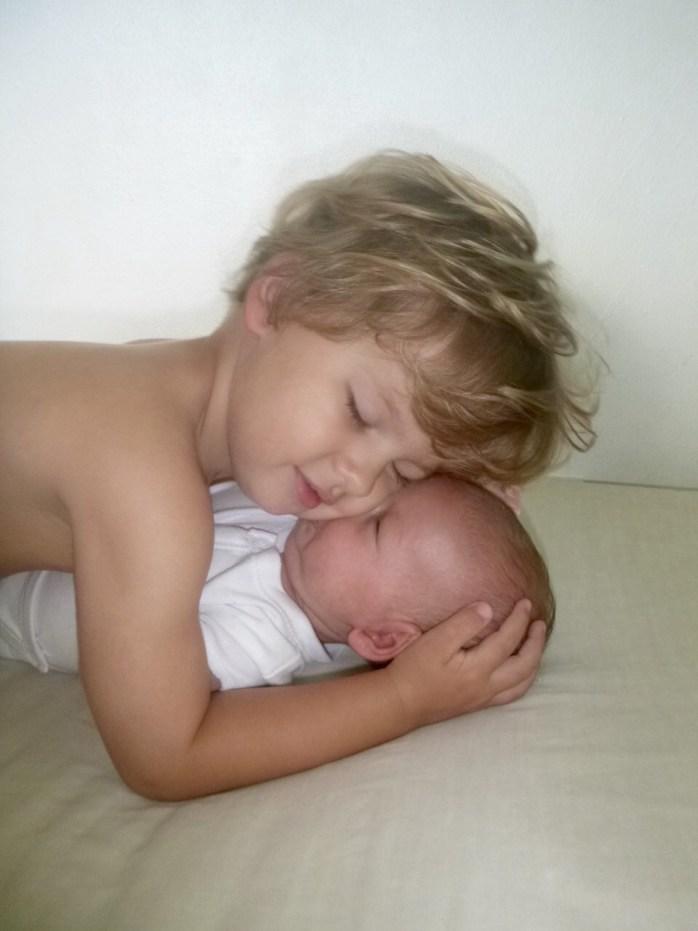 Arthur and Freddie. Brothers. Cuddles