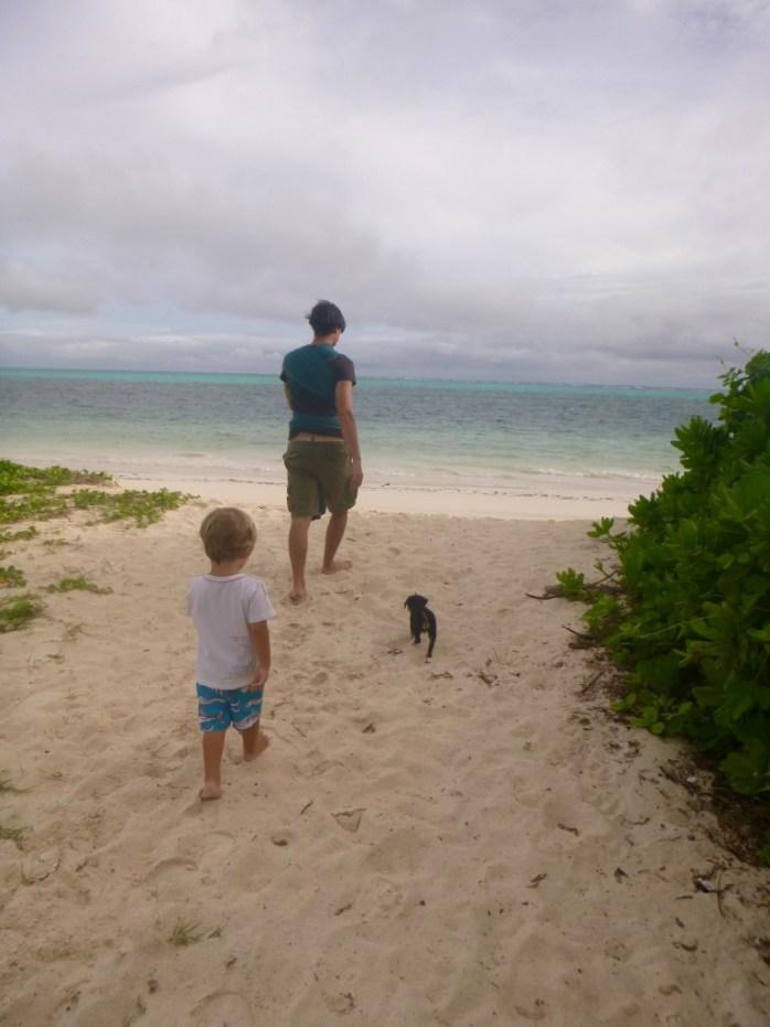 family walk on the beach praslin seychelles
