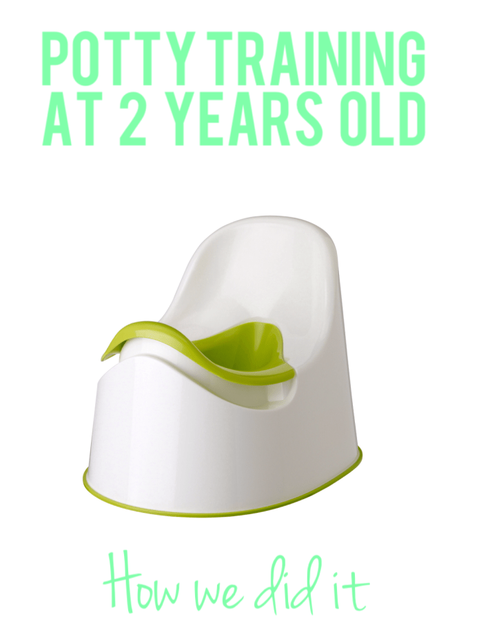 Potty training at 2: our story and tips