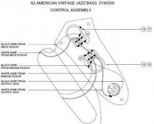 Seymour Duncan Jazz Bass Wiring: The 1962 Fender Jazz