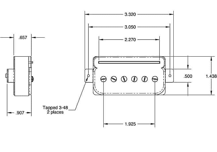 Seymour Duncan P-Rails® Triple Shot Set Flat Pickup