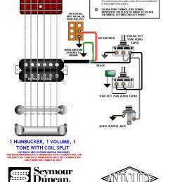 1 humbucker 1 volume 1 tone 1 split switch  [ 819 x 1050 Pixel ]