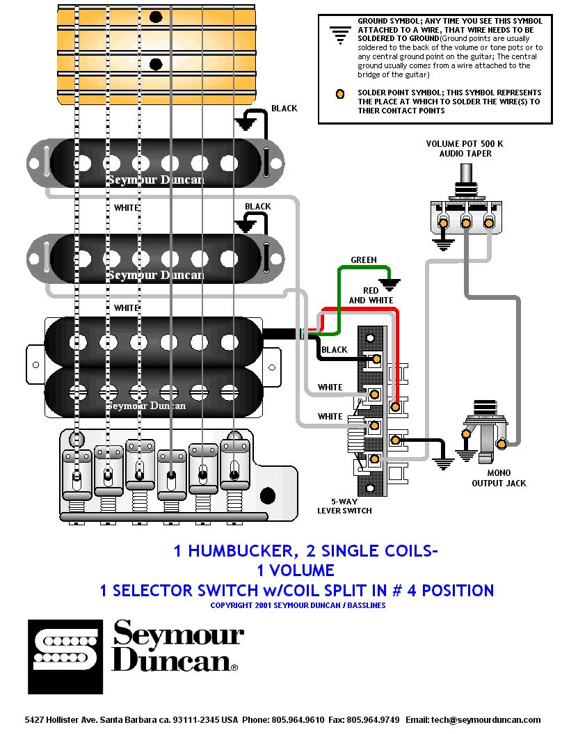 Wiring Diagram Seymour Duncan Jbj 1 Single Coil Yjm Wire For Air Conditioner Dimarzio Humbucker Funky Jeff Beck