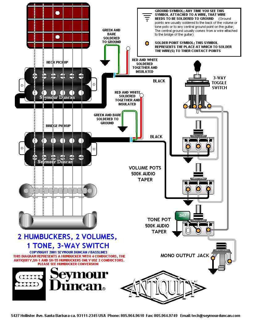 hight resolution of sh wiring diagram simple wiring diagram dimebucker pickups dimebucker wiring diagram source seymour duncan