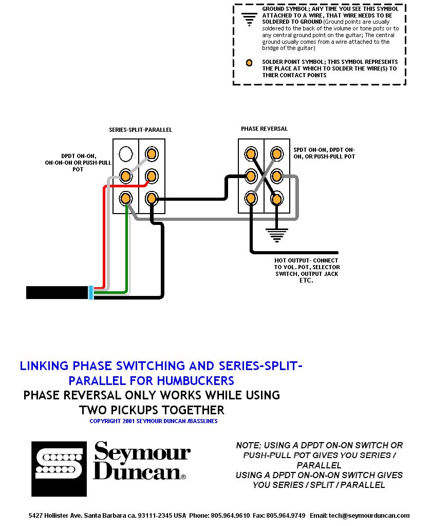 hight resolution of  phase series parallel split switch for humbuckers