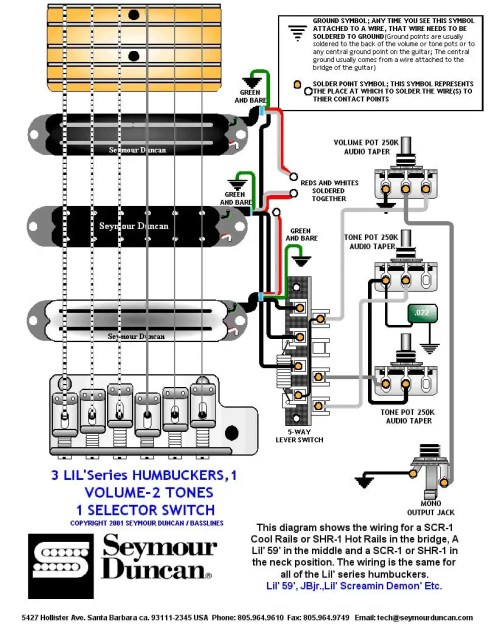 small resolution of 3 humbuckers 5 way switch 1 volume 2 tones
