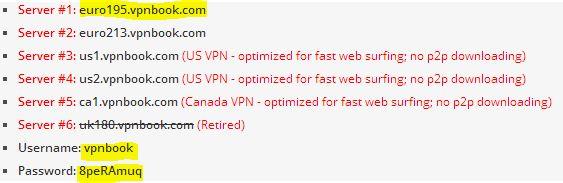 vpn kullanıcı adı ve şifre