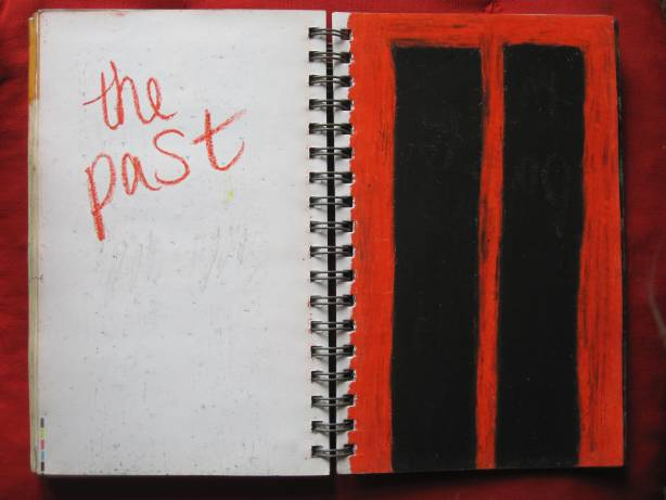 The Past, oil pastel on paper by Sezin, 2003