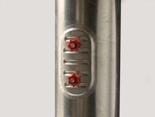 Botola di accesso alle condotte in lamiera zincata circolari con galletti e guarnizione