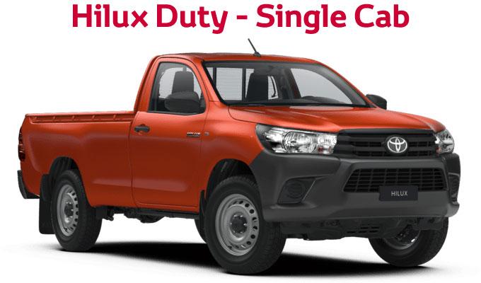 flückiger Autohaus – NEW TOYOTA NEW Hilux Duty – Single Cab