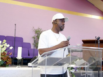 "On April 4, Oscar Grant's Uncle Bobby Johnson told the crowd that gathers at Olivet Missionary Baptist Church in Oakland every Saturday to strategize and fight for justice for Oscar Grant: ""What I saw on television how the media up-played all of us Black folks, white folks supporting the officers who were killed – in a sense that was OK. But where I kind of twinged was, I didn't feel Oscar got the same support."" Listen to his entire testimony here. – Photo and recording: Dave Id, Indybay"