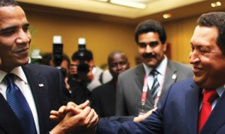 """Despite the condemnation he knew would come from many Americans, President Barack Obama walked up to President Hugo Chavez of Venezuela and greeted him warmly. """"I want to be your friend,"""" Chavez responded. Imagine the benefits for their people if these two Black presidents could work together – or even talk with each other. - Photo: AFP/Getty Images"""