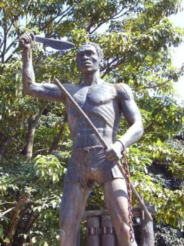 Gaspar Yanga, the 16th century enslaved African prince who rebelled against the Spanish, with his people, called the Yangans, established Yanga in Veracruz, the first free town in the Americas, where this monument stands.