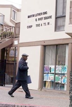 "King Garvey Co-op, home to 211 families in San Francisco's historically Black Fillmore district, will be owned by its residents free and clear in 2019, unless corporate and government conspirators succeed in wrenching it away from them to complete the ethnic cleansing that drove out most Blacks decades ago from the neighborhood then known as ""Harlem of the West."" – Photo: Frederic Larson, SF Chronicle"