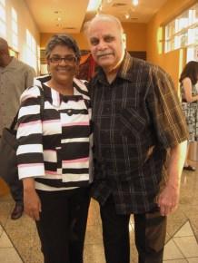 "Sarah ""Sally"" Hemings' descendents Dr. John Q. Taylor King and his daughter, Marjon Alicia (King) Christopher – Photo: Wanda Sabir"