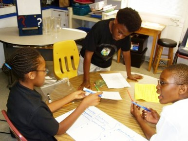 Students at ASA Academy learn to work together, to cooperate and encourage each other. - Photo: Kenneth Wynn