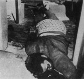Chairman Fred Hampton, organizer and leader of the largest chapter of the Black Panther Party, was shot dead in his bed and dragged by his wrist into the doorway.