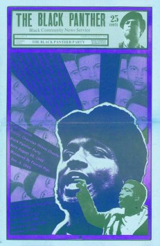 Details of the Fred Hampton Film Festival in San Francisco are listed below. - Poster art by Emory Douglas