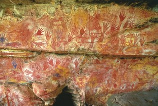 The oldest parts of this Western Australian rock art, painted – in red and yellow ochre – by Black Aboriginal artists 55,000 years ago depict boomerangs, kangaroos, birds, fish and human figures. Sailing ships, rifles and corn pipes were added millennia later when white settlers arrived. Now this stunningly beautiful heritage is threatened by Chevron-Shell liquefied natural gas extraction to feed modern society's – perhaps even San Francisco's – addiction to fossil fuel.