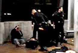 Thanks to cellphone videos taken by horrified onlookers, the world has watched BART police officer Johannes Mehserle, with the help of fellow officer Tony Pirone, execute Oscar Grant in cold blood. – Photo: Courtesy of John Burris