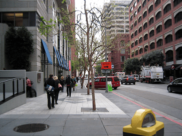 Spear Street in Downtown San Francisco