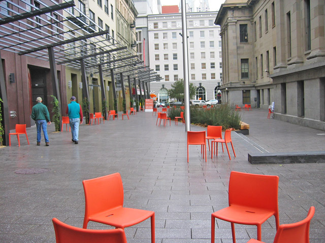 Mint Plaza as an example of a paseo