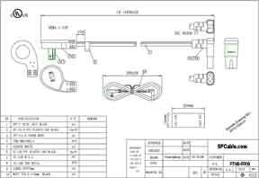 6ft USA low profile Angled NEMA 1-15P 2 Prong Plug to IEC