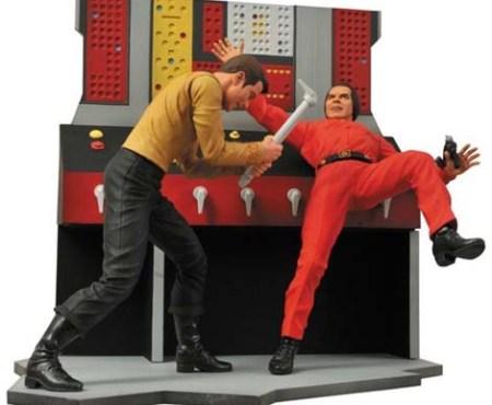 Kirk versus Khan figures.