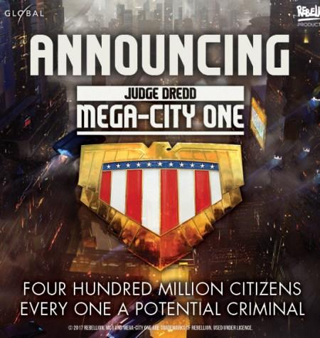 Judge Dredd Mega-City One to be a new TV series.