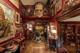 Image of del Toro's house with the Frankenstein Head: Guillermo del Toro's Bleak House