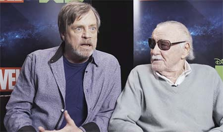 Stan Lee and Mark Hamill: interviewed together (video interview).